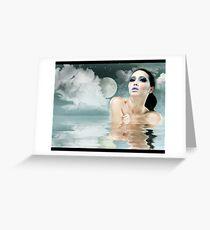 Moonlight Bath Greeting Card