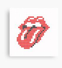 Lips and tongue Canvas Print
