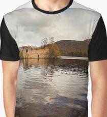 Loch an Eilein Castle, Scotland Graphic T-Shirt