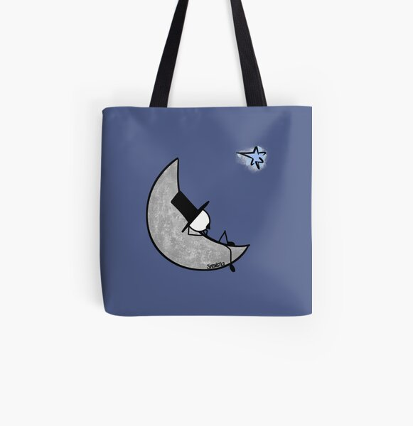 Daydreaming on the moon  Bolsa estampada de tela
