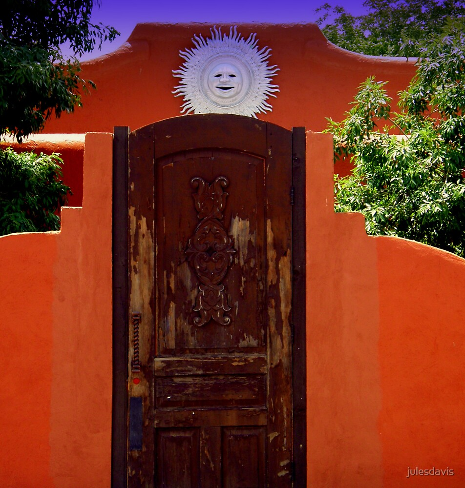 Brown Door at La Union Station by julesdavis