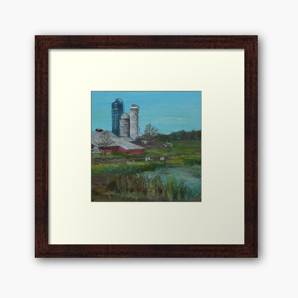 Middle Road Farm by Laura Jaen Framed Art Print