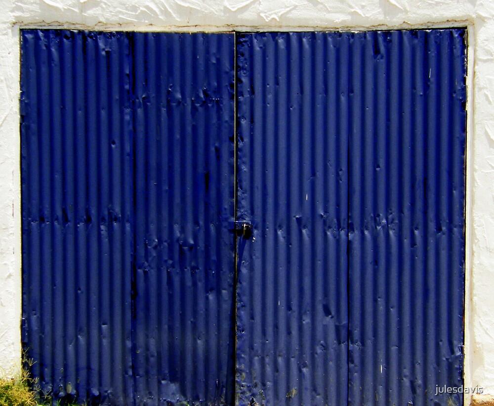 Blue Tin Door by julesdavis