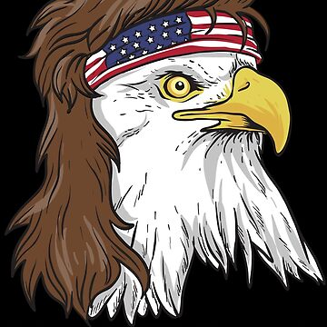 Patriotic Mullet Eagle Independence Day 4th Of July by anziehend