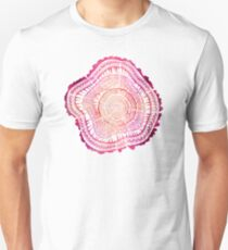 Tree Rings – Red Watercolor Unisex T-Shirt