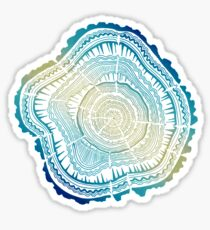 Tree Rings – Watercolor Ombre Sticker