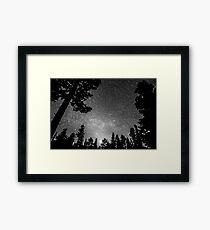 Dark Stellar Universe Framed Print