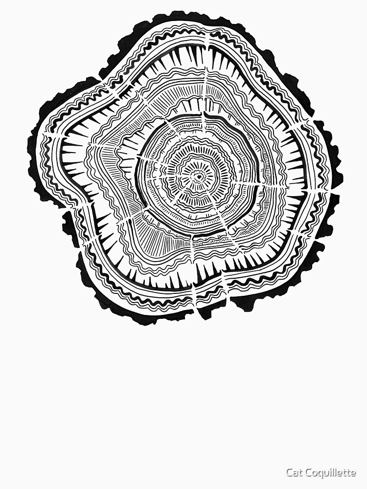 Tree Rings – Black on White by catcoq