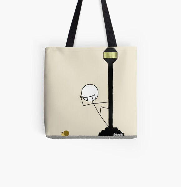Bickering with a snail  Bolsa estampada de tela