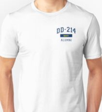 2baf7a46112a US Navy Shirt DD214 Alumni for a Retired Hero T Shirt Veteran Pocket Design  Unisex T