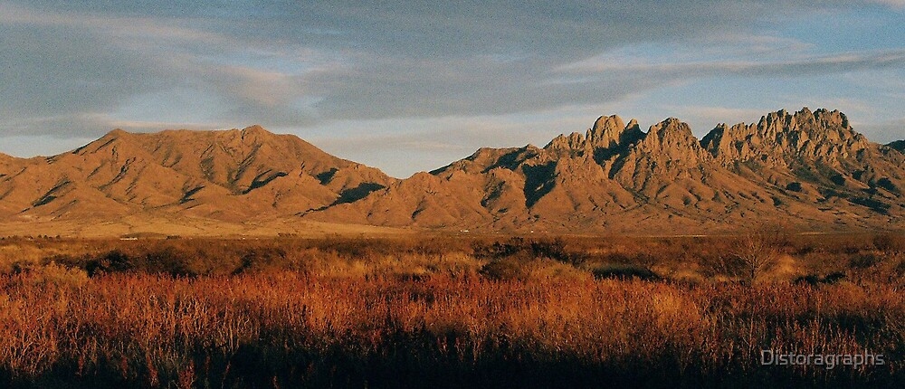 Organ Mountains at Sunset by Distoragraphs