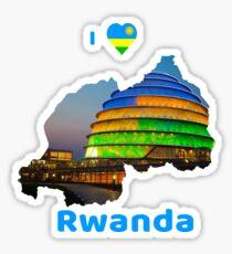 I love Rwanda Sticker