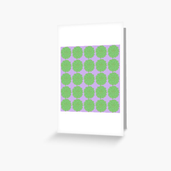 Succulent Grid Pattern Greeting Card
