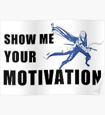 Motivation in Blue Poster