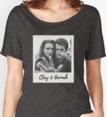 Clay & Hannah- 13RW Polaroid Women's Relaxed Fit T-Shirt