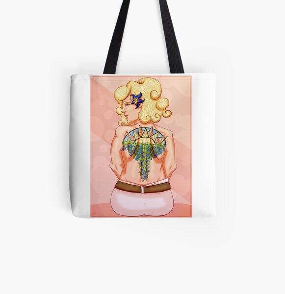 Tattoos of the Sun All Over Print Tote Bag