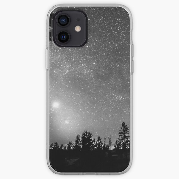 Forest Silhouettes Constellation Astronomy Gazing iPhone Soft Case
