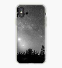Forest Silhouettes Constellation Astronomy Gazing iPhone Case