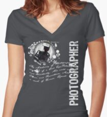 The Alchemy of Photography Women's Fitted V-Neck T-Shirt