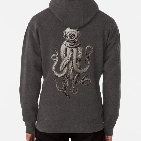 Strange Vintage SCUBA Diving Octopus Kraken T-shirts and Gifts Pullover Hoodie