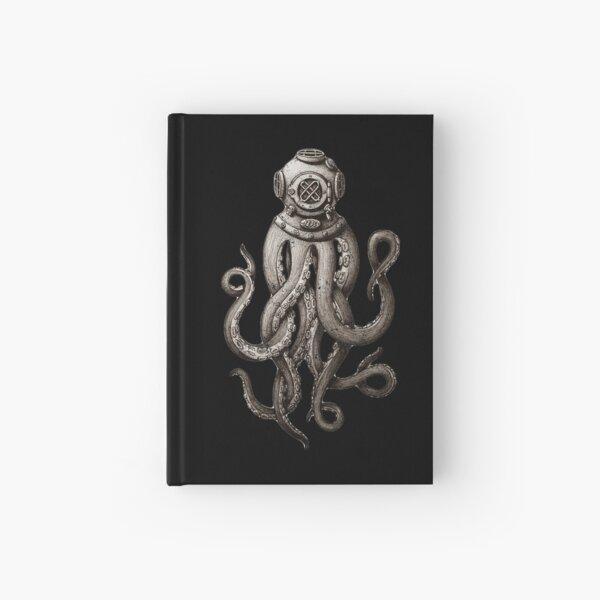 Strange Vintage SCUBA Diving Octopus Kraken T-shirts and Gifts Hardcover Journal