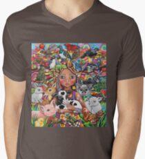 Der Wächter T-Shirt mit V-Ausschnitt