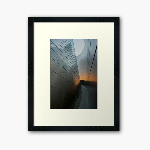 Urban Slot Canyon Framed Art Print
