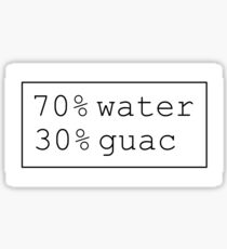 70% water 30% guac Sticker