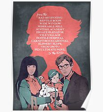 A Series Of Unfortunate Events / Lemony Snicket Poster