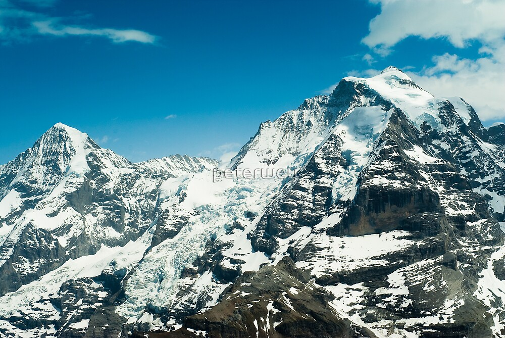 Mönch and Jungfrau by peterwey