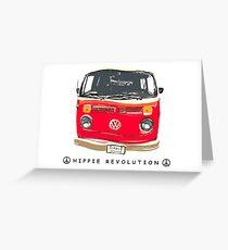 Hippie Revolution Crunchy Orange Bay Greeting Card