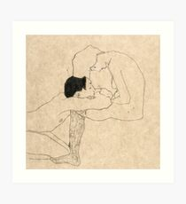 "Egon Schiele ""Lovers"" Art Print"