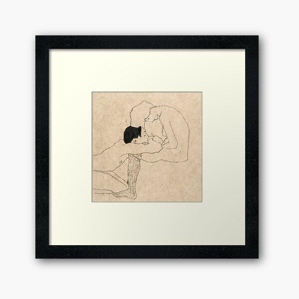 """Egon Schiele """"Liebhaber"""" Gerahmter Kunstdruck"""
