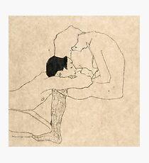 "Egon Schiele ""Lovers"" Photographic Print"