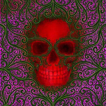 Vine Skull by NicoleK-design