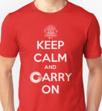 Keep Calm Carry On Calgary White Unisex T-Shirt