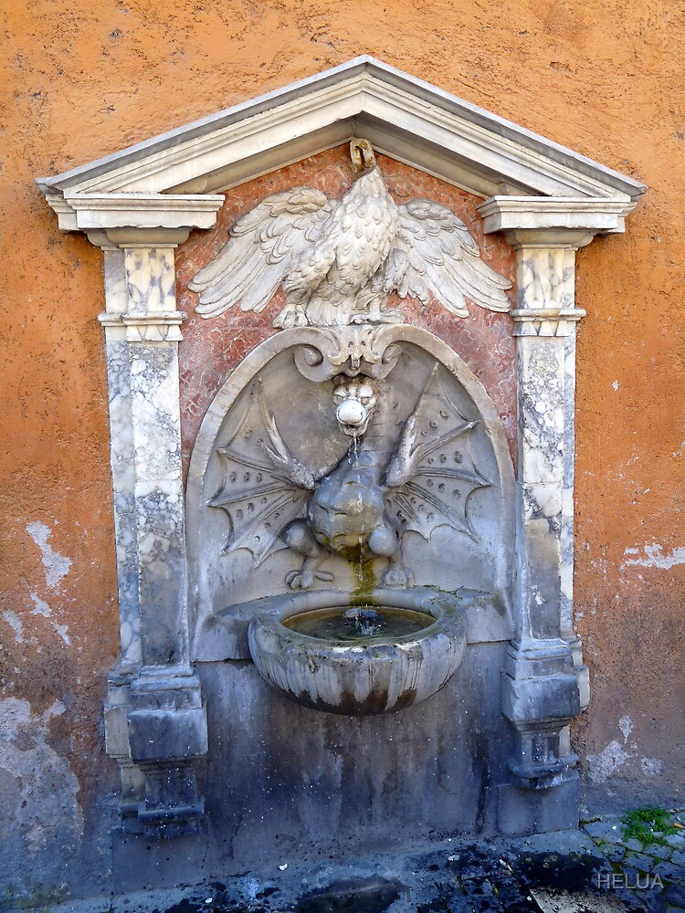Dragon Fountain in Rome by HELUA