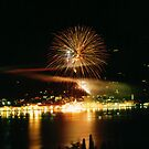 Fireworks in SALO', ITALY by giuseppe maffioli