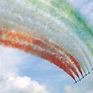 FRECCE TRICOLORI, flag. by giuseppe maffioli