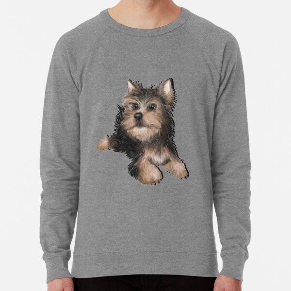 Alert Young Yorkshire Terrier Puppy Lightweight Sweatshirt