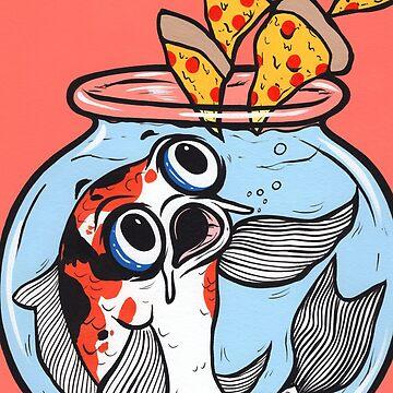 Koi Fish Pizza by turddemon