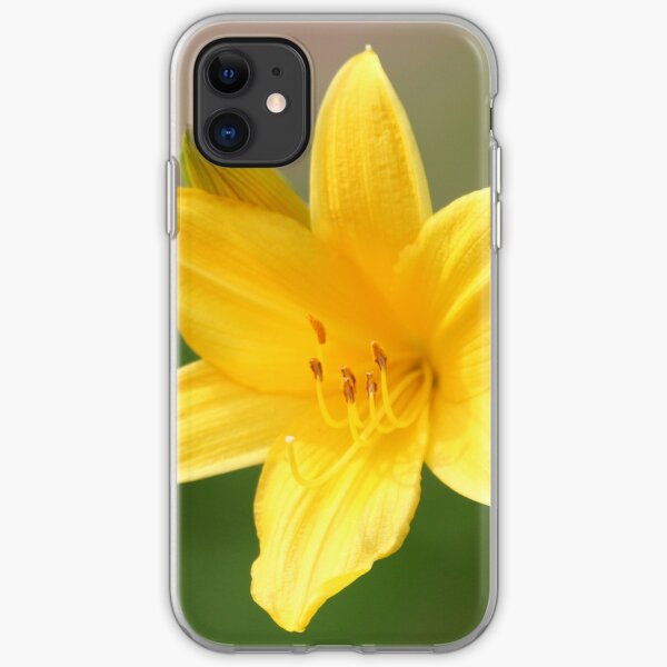 Yellow Day Lilly iPhone Soft Case
