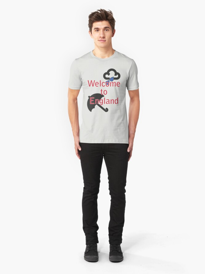 Alternate view of Welcome to England! Slim Fit T-Shirt