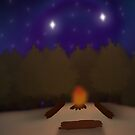 Campfire by CaseyMadeAThing