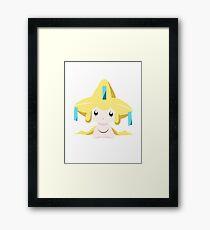 Jirachi Pokemon Simple No Borders Framed Print