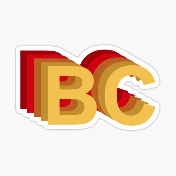 BC - Boston College Sticker