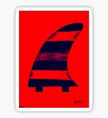 Salty surf fin  Sticker