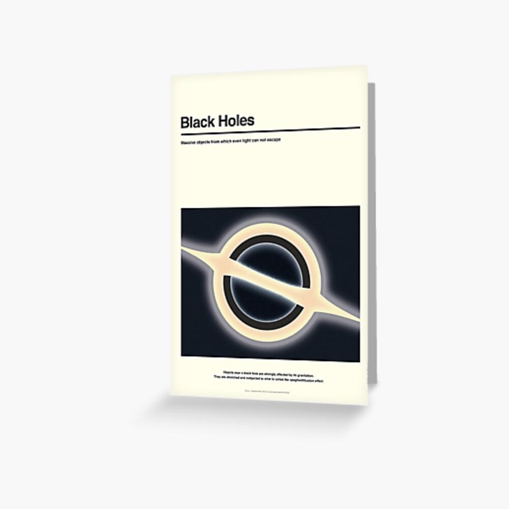 Schwarze Löcher Grußkarte