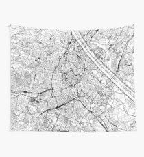 Wien Weiße Karte Wandbehang