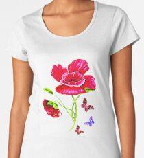 Poppies and Butterflies Women's Premium T-Shirt